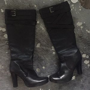Charles, Black high leather boots, 7